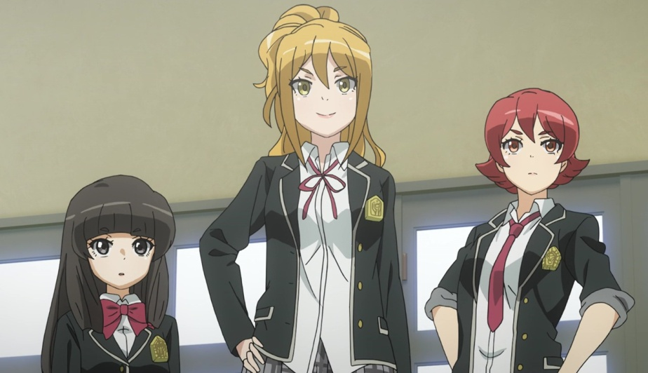 "Schoolgirl Strikers – Animation Channel Episode 8 Review – ""Showdown! The Three Origami Sisters"""